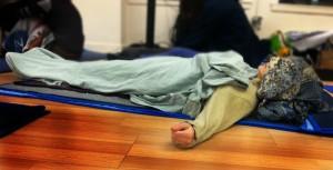 woman resting Dancemeditation practice