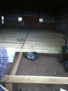 7. Barn Floor Joists, three-quarters done