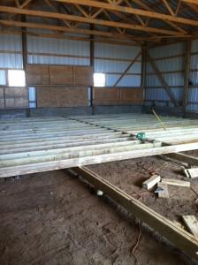 Barn Floor Joists, halfway