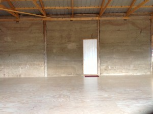 Dance Floor and Papercrete Wall