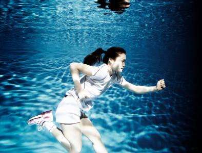 run in water