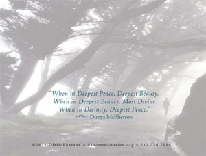 Divine Beauty greeting card back image and quote